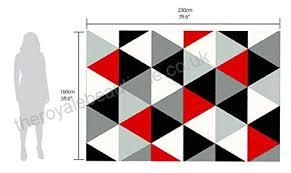 modern contemporary geometric diamond black grey cream red very funky bedroom floor accessories extra large
