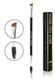spoolie eyebrow brush. eyebrow duo brush by mintpear-premium quality angled \u0026 spoolie for brow, eyeshadow
