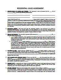 lease agreement sample rent and lease template free download edit fill and print