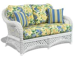 wicker loveseat cushions regarding replacement for outdoor rattan furniture inspirations 6