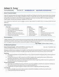 Financial Analyst Resume Sample Best Of 50 Fresh Finance Resume