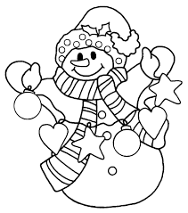 Small Picture Snowman coloring pages to download and print for free