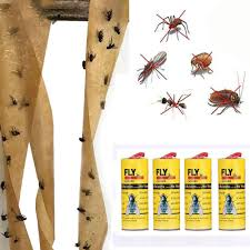 Womail 4 <b>Rolls Sticky Fly</b> Paper Eliminate <b>Flies</b> Insect Bug Glue ...