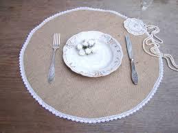 Burlap Round Table Overlays Round Burlap Placemat Circular Wedding Centerpiece Burlap And