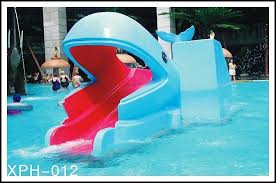 industrial small amusement raft rides fiberglass pool slide for kids water park