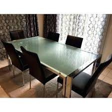 frosted glass dining table set tables uk