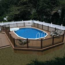 above ground swimming pool with deck.  Swimming Above Ground Pool Ideas And Design To Swimming With Deck N