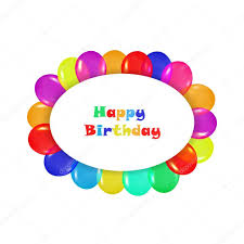 Oval frame design Gold Oval Frame Of Colorful Balloons In The Style Of Realism To Design Cards Birthdays Vectorstock Oval Frame Of Colorful Balloons In The Style Of Realism To Design