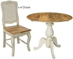 amberly dining set round with 4 chairs