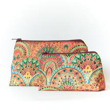 Makeup Case With Lights India Makeup Bags Cosmetic Purses Set Of 2 Indian Summer 23 00