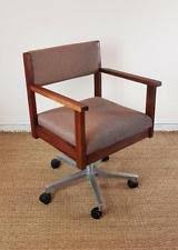 retro office chairs. Vintage Retro Teak Office Desk Computer Swivel Chair Chairs O