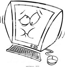 Computer Technology Coloring Pages Vector Cartoon Jittery ...