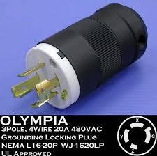 similiar v phase plug keywords 1620lp 20a 480v 3 phase nema l16 20p 3p 4w locking plug