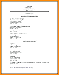 Reference Page For Resume Template Reference Page For Resume