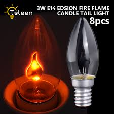 simulation flame fire led candle bulb retro edison