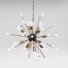 retro sputnik brass and crystal chandelier