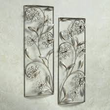 silver metal bathroom wall art