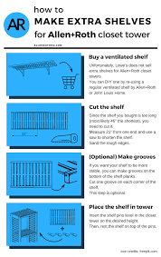 allen and roth closet ventilated shelf diy infographic