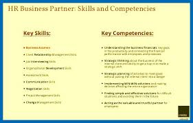 skills and competencies resumes resume skills and competencies how to become the hr business partner