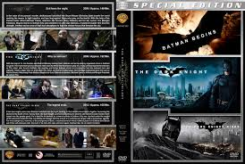 The Dark Knight Trilogy dvd covers 2005 2012 R1 Custom