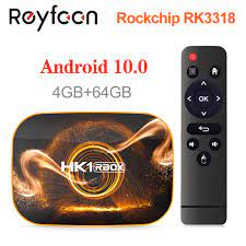 HK1 RBOX Android 10 Smart TV Box 4GB 64GB 32GB Rockchip RK3318 1080P H.265  5G wifi 4K Google Player Shop Youtube Set Top Box|Digitalempfänger