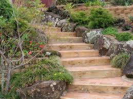 Small Picture Rockery at one side of garden steps sloping steps Pinterest