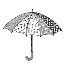 This umbrella coloring page features a picture of an umbrella to color for spring. Umbrella Coloring Pages Vector Images Over 300