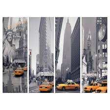 about this item on canvas wall art new york city with new york taxi canvas wall art set of 4 gray taxi target
