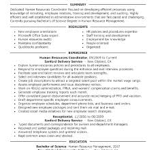 Entry Level Human Resources Resume Human Resource Resume Samples