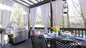 Indoor and Outdoor Design. DIY Galvanized Pipe Rods & Drop Cloth Drapes  withHEART YouTube