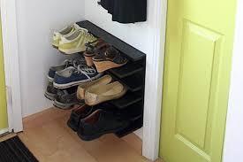 diy shoe rack floating