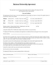 Business Partner Contract Agreement Template. Partnership Contracts ...