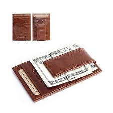 leather mens wallet money clip purse id credit card holder coin clutch