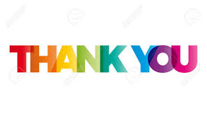 Word Thank You The Word Thank You Vector Banner With The Text Colored Rainbow