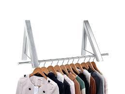 folding wall clothes hanger indoor outdoor aluminum folding wall hanger clothes hanger rack space saving clothes
