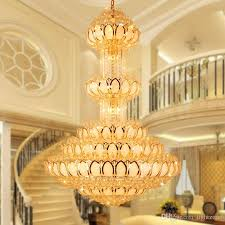 crystal pendant chandeliers lamp round villa luxury high end pendant lamps large european style lobby hotel project construction light farmhouse chandelier