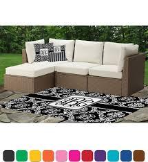 monogrammed damask outdoor mat cushions