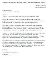 Letter Of Recommendation From Employer To College Recommendation Letter For University Or Graduate School Academic