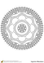 Coloriage Superbes Mandalas Arbre Simple L L L L L L