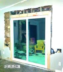 patio cost to install french doors in wall thanks