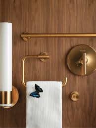 Kohler Bathroom Light Fixtures The Bold Look Of Bathroom Accessories Kohler Purist Gold