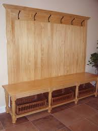 Hall Coat Rack With Storage Entryway Storage Bench With Coat Rack Wood STABBEDINBACK Foyer 75