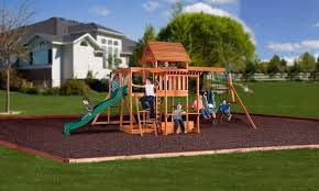 details about backyard swing set monticello cedar wooden outdoor playground playset kids slide