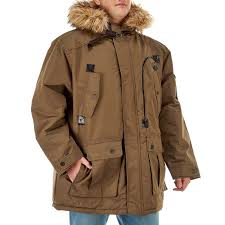 big tall hooded parka with removable faux fur trim