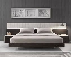 grey lacquered headboard with light technology brown bed king ebay
