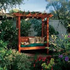 Small Picture How to Build a Garden Arbor Bench Sunset
