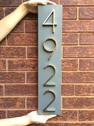 best house number plaques ideas on within front door numbers signs diy design 0