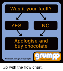 Was It Your Fault No Yes Apologise And Buy Chocolate Tum