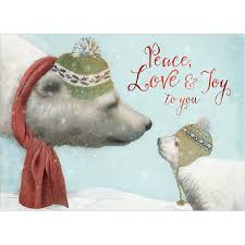 Free Holiday Photo Greeting Cards Peace Love Joy Holiday Greeting Cards 10 Pk
