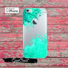 diy ipod case mint green paint splatter watercolor art clear ca 6 plus plus 5 7 diy ipod case